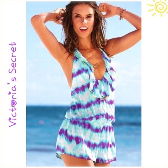 d301d0c3109 PINK Victoria's Secret Swim | Victorias Secret Cover Up Romper Tie ...